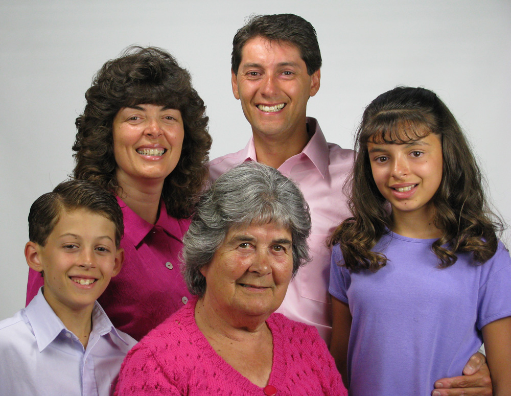Recorded live in 2009  when Paul & Carolyn where living in northwest Montana, pictured here with Carolyn's mother. Carolyn's father passed in 1994.  Hannah (12) and Caleb (10)