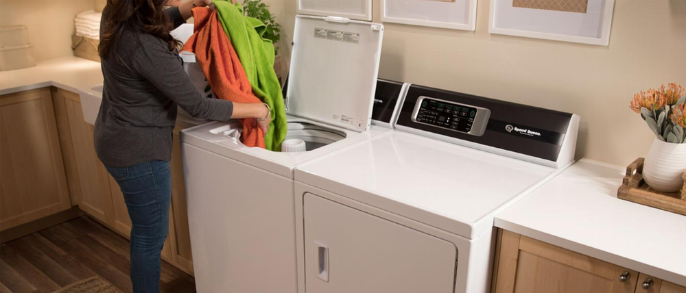 SPEED QUEEN   The proof is in the warranty. Up to 7-year, in-home parts & labor warranties. Because the same washers and dryers tested to stand up to years of the most demanding commercial applications are the same machines built and tested to last 25 years in your home.