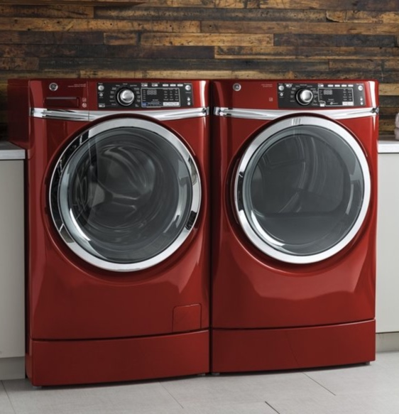 GE   Loaded with options. Choose a washing machine with Deep Fill, SmartDispense™ or a Water Station. Go old school with a dual-action agitator or modernize with a WiFi connected washer & dryer and easily monitor your laundry.