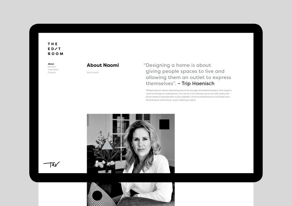 The Edit Room - About Naomi Hageman