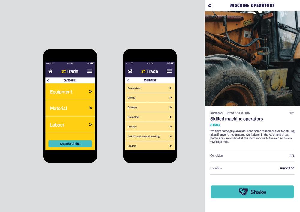 CivilShare app screens