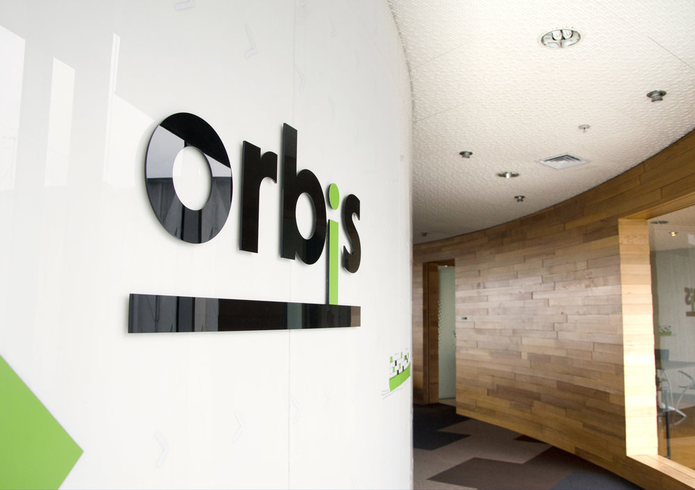 Orbis office signage