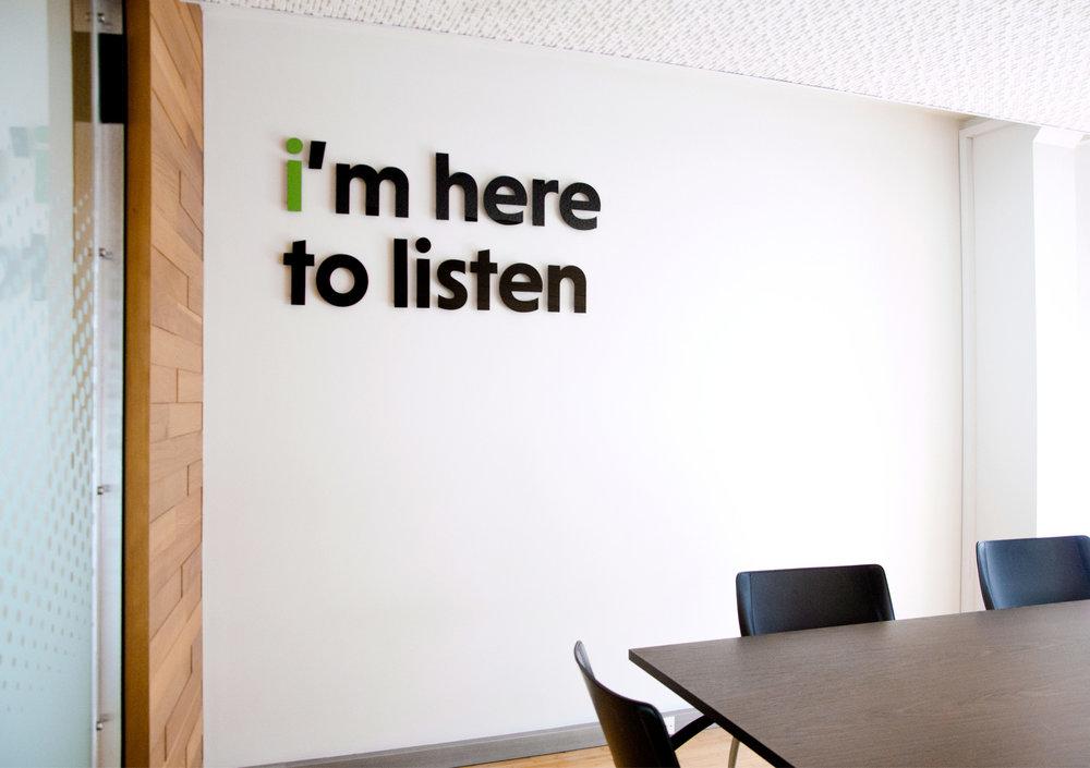 Orbis meeting room - I'm here to listen