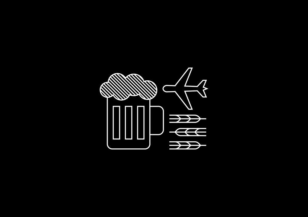 Flight 605 craft beer passport logo
