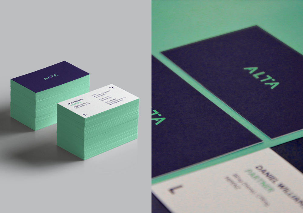 Alta business cards