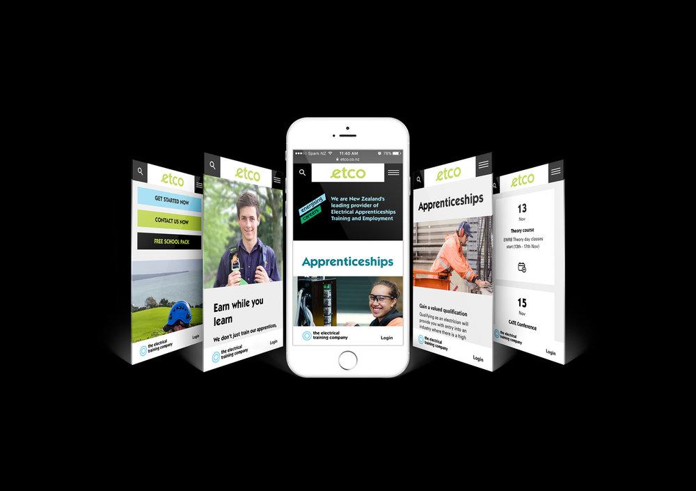 etco mobile website