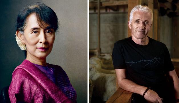 Aung Sun Suu Kyi and Rob Fyfe