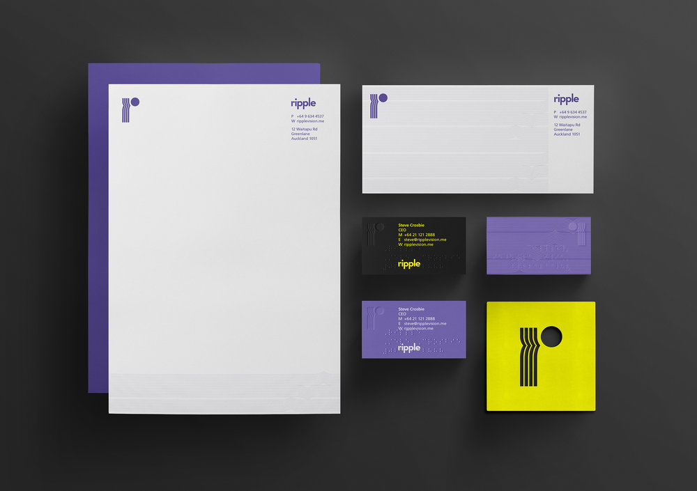 Ripple business stationery