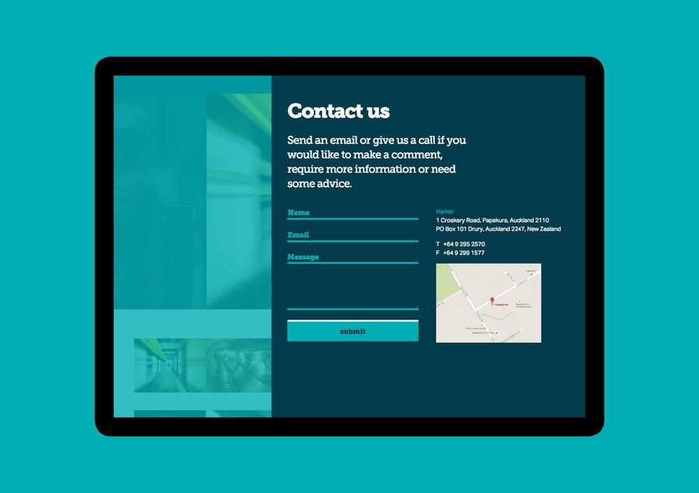 Harker website - contact us