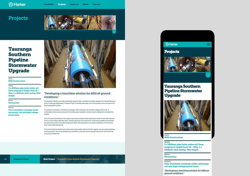 Harker website - projects