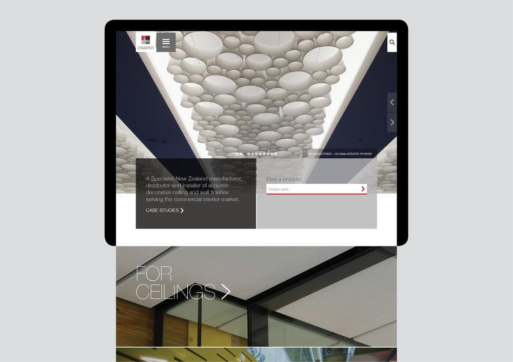 Asona website home page
