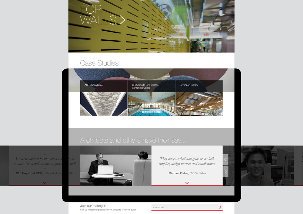Asona website case studies and testimonials