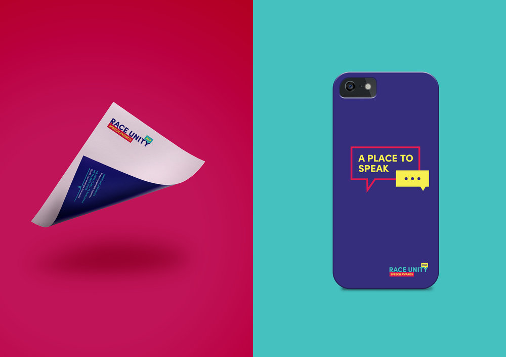 Race Unity letterhead and phone cover