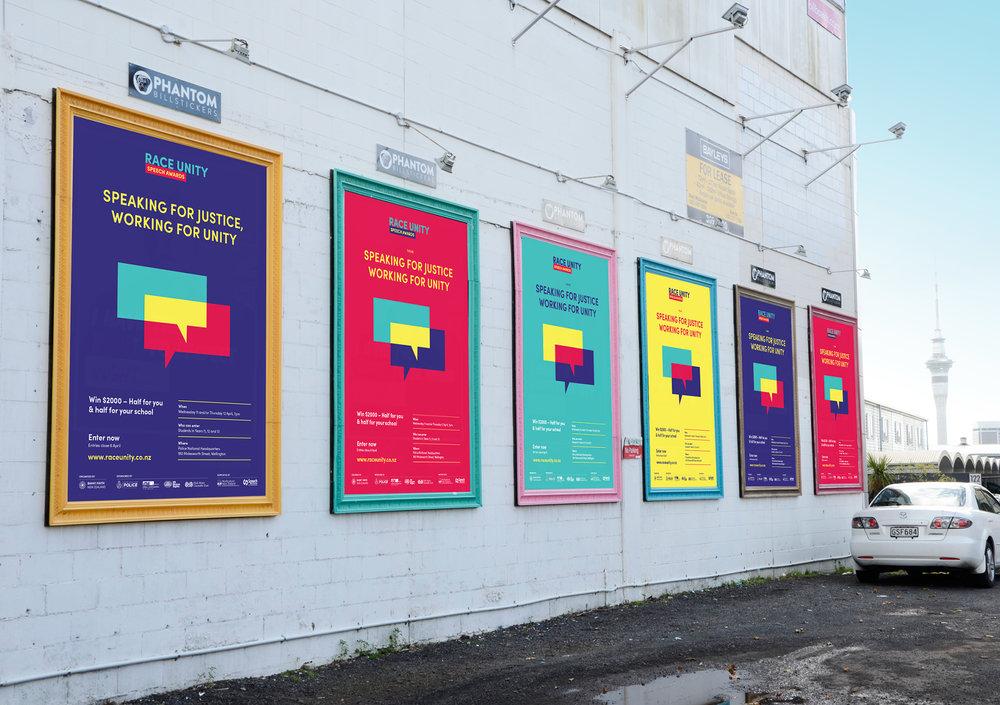 Race Unity street posters