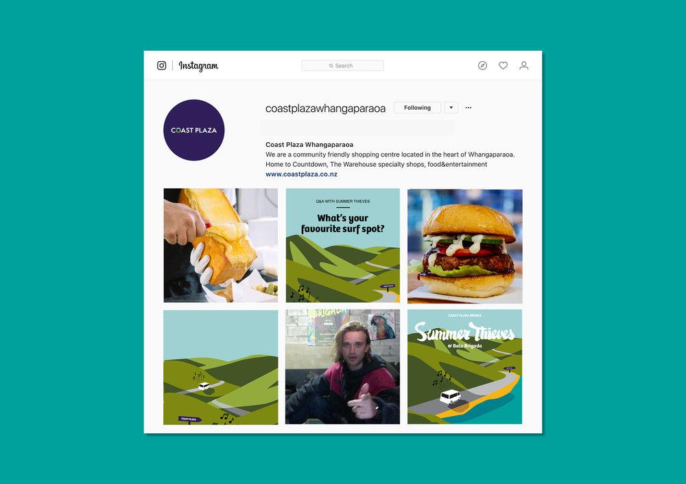 Coast Plaza Instagram posts