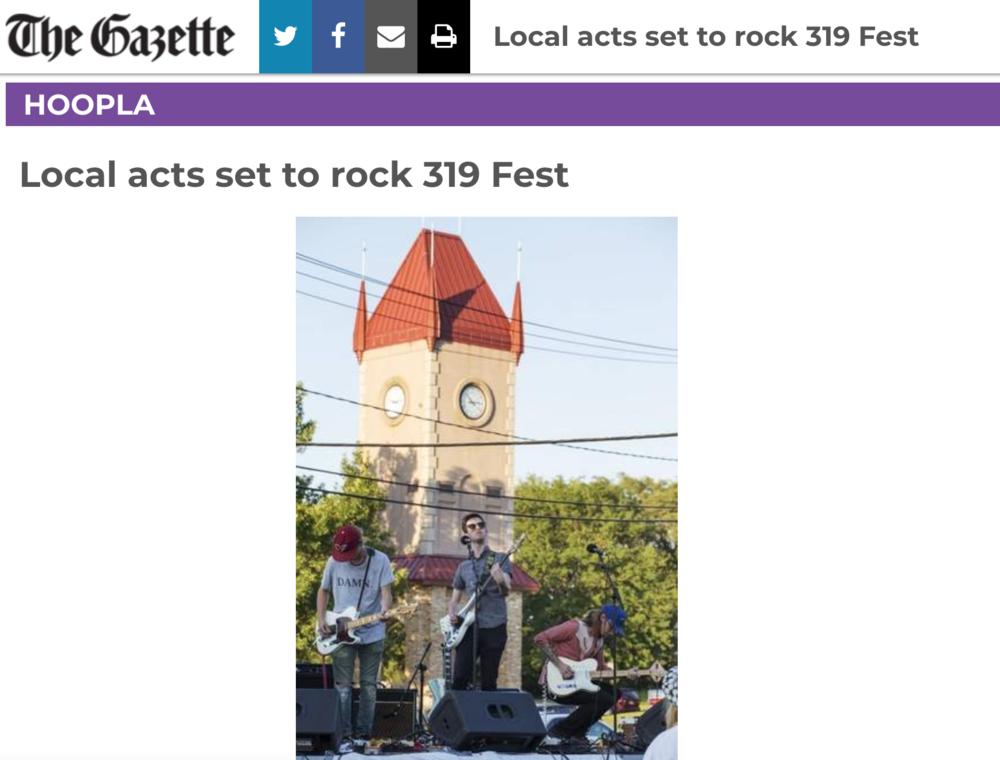 The Gazette 319 Fest Screenshot
