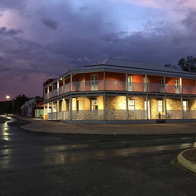 Victoria Hotel after some much needed Pilbara rain. #yurra #yindjibarndi #victoriahotelroebourne #gbscyurra  #pilbaradevelopmentcommission #cityofkarratha