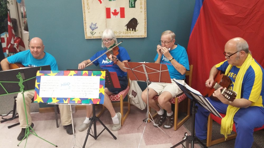 The Sill-I-Tones is a Nordic folk music group that specializes in traditional melodies from all the Nordic countries. Our ensemble is comprised of 12 amateur musicians who play for events at the Scandinavian Cultural Centre, Scandinavian Pavilion (Folklorama) and the greater Winnipeg community (upon request).    Regular practice continues on Tuesday, January 8th, 2019 at 7:30pm. For more information please contact the Scandinavian Cultural Centre at scandinaviancc@shawcable.com