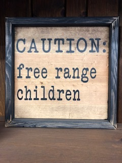 Medium Wall Art Free Range Children