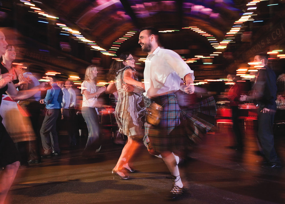 Scottish Ceilidh dancing - free lessons available