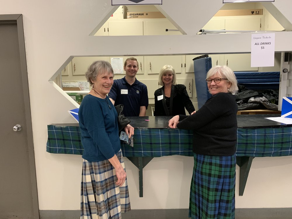 RBC volunteers with some of the Royal Scottish Country dancers