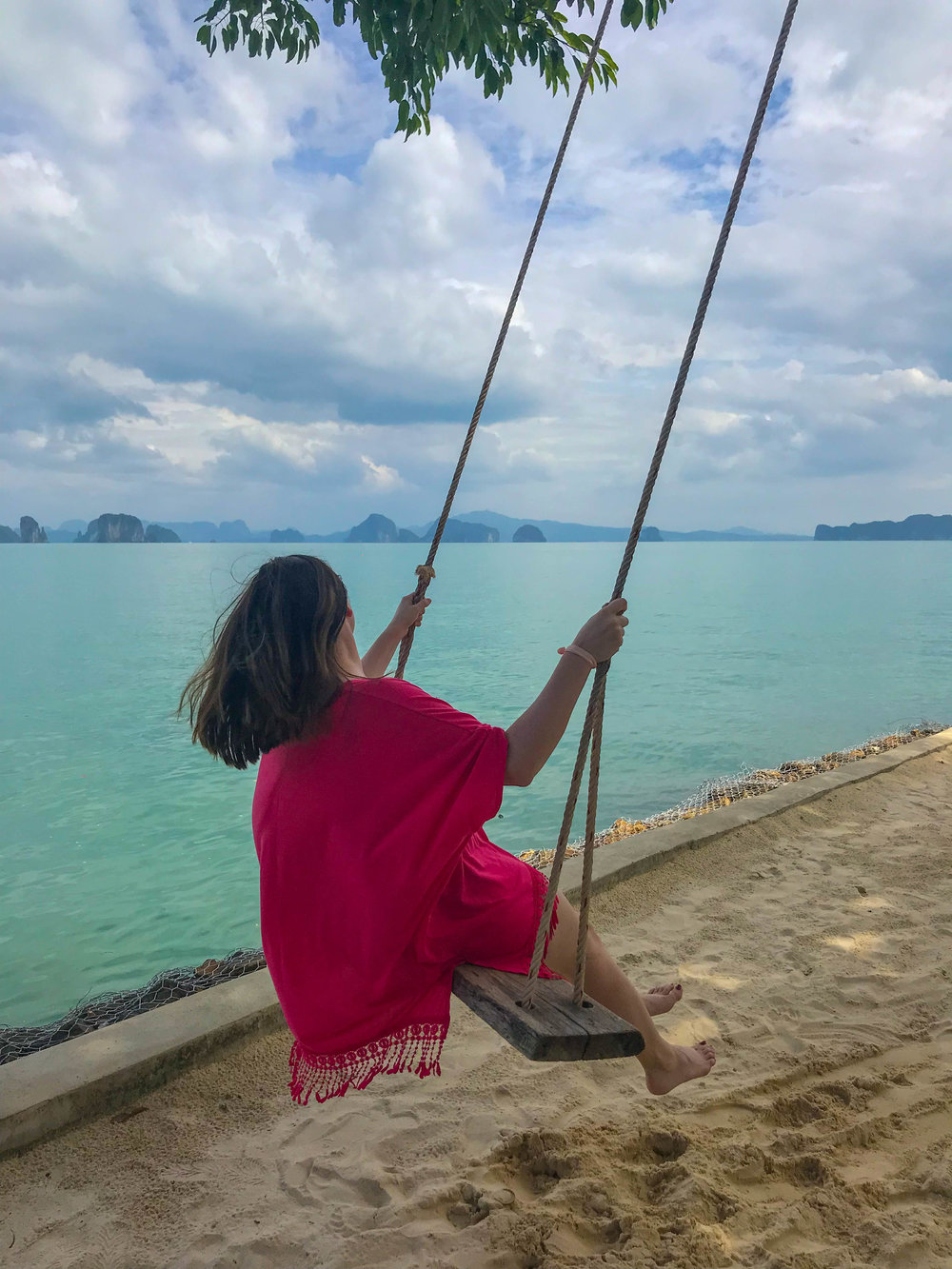 Thailand Cape Kudu Hotel Koh Yao Noi - beach swing with a view