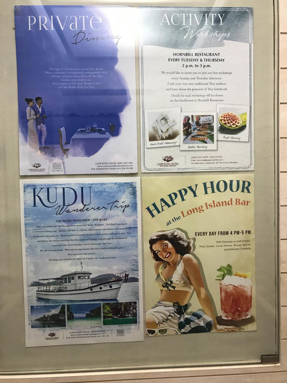 Cade Kudu Hotel - Koi Yao Noi, Thailand - hotel activities