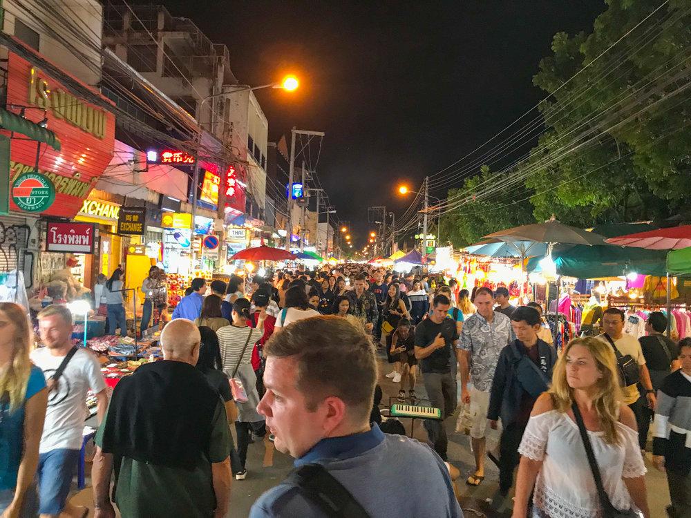 Thailand - Chiang Mai - New Years Eve - Street market