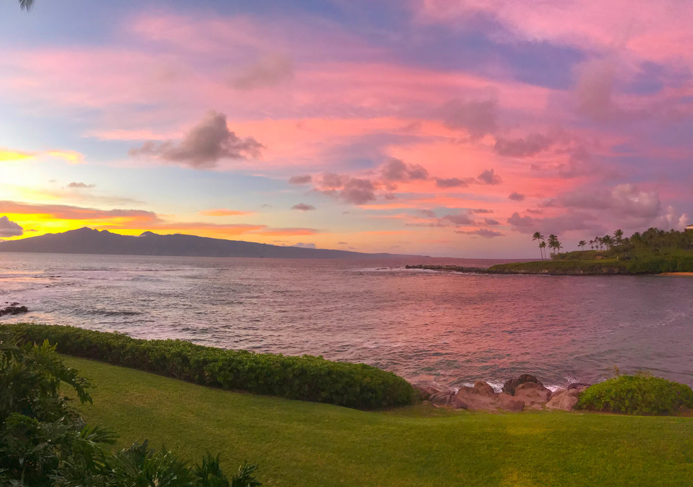 Merriman's Kapalua Restaurant - Beautiful Sunsets