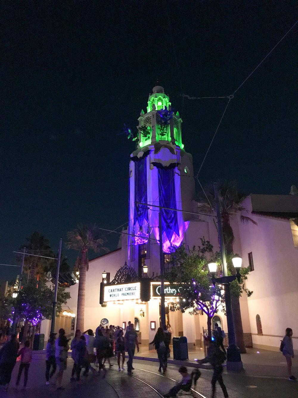 Disneyland Halloween Time California Adventure Carthay Circle bats