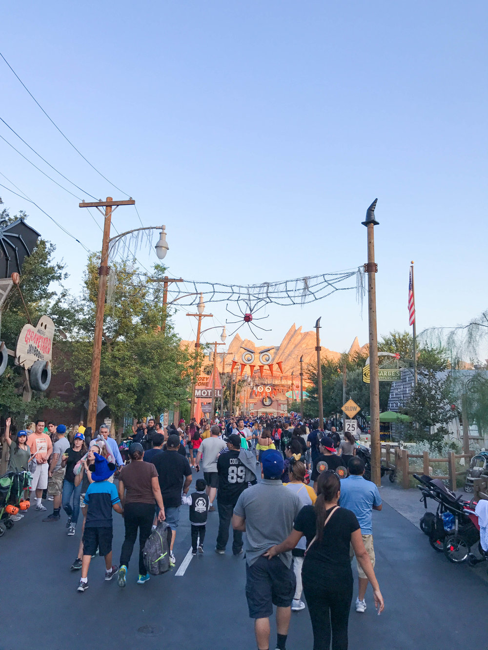 Disneyland Halloween Time California Adventure Cars Land