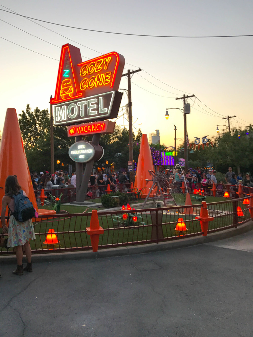 California Adventure Halloween Time Cars Land Cozy Cone Motel