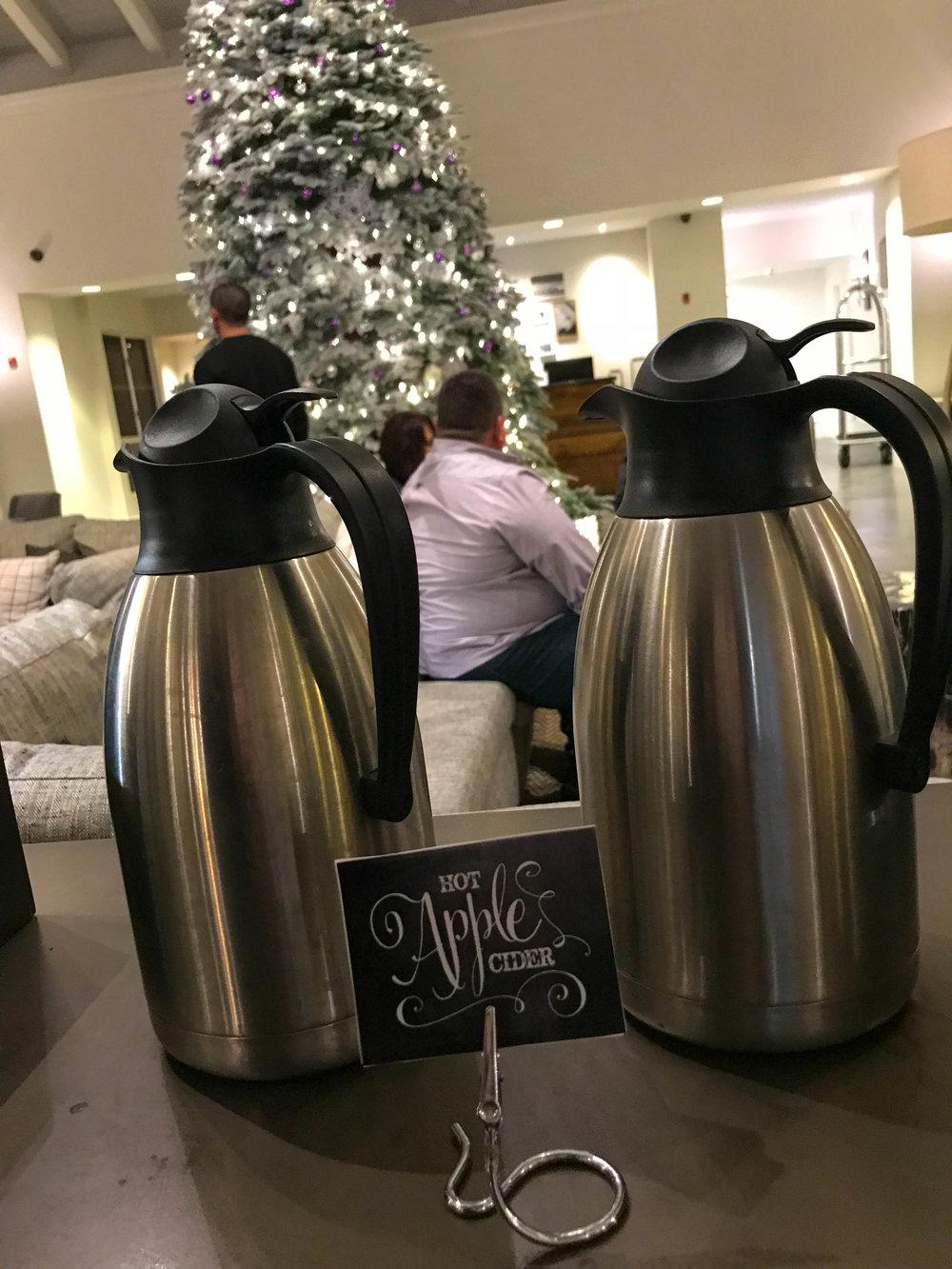 Hyatt Regency Sonoma County Lobby - Cider and cocoa