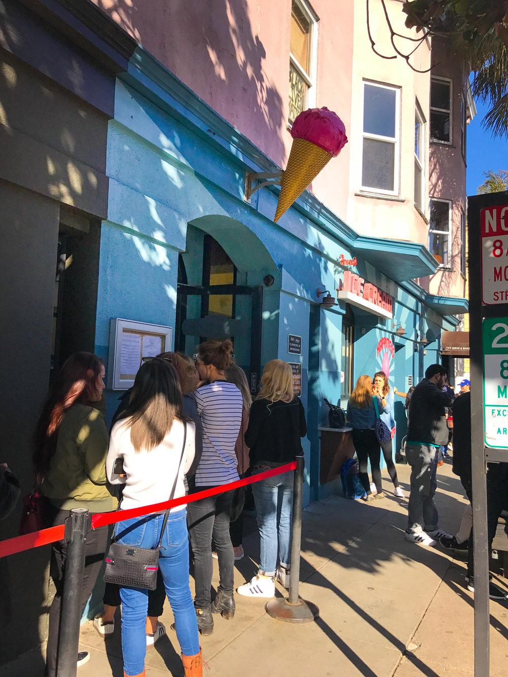 Bi-Rite Ice Cream Review - line around the corner