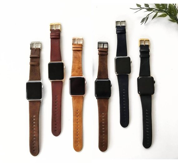 Leather Apple Watch Bands - Under $50 on EtsyThese bands come in all sizes and colors!