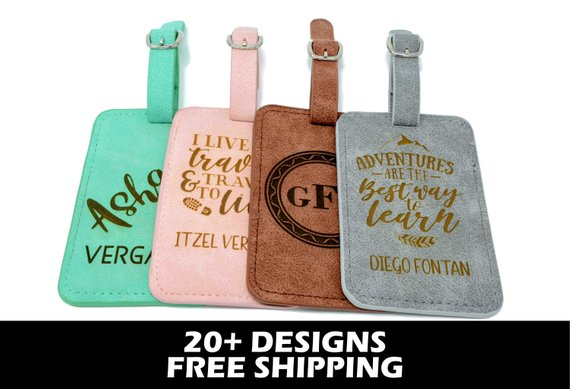 Trendy Luggage Tags - Under $15 on EtsyCheck out all of the different colors and designs (and free shipping)!