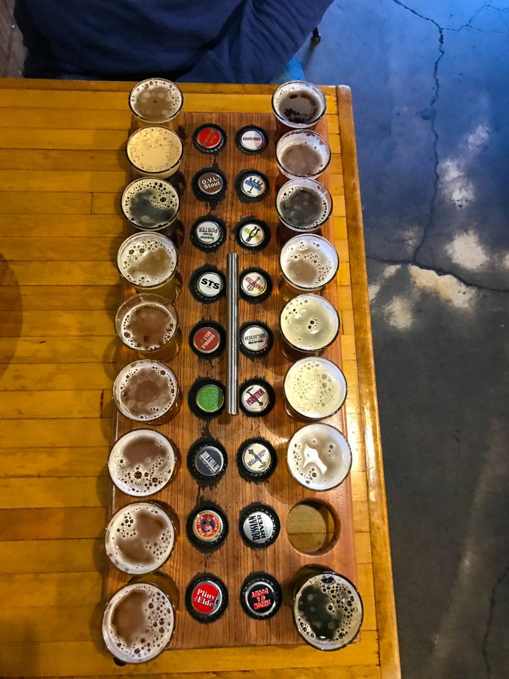 Russian River Brewery Tasters