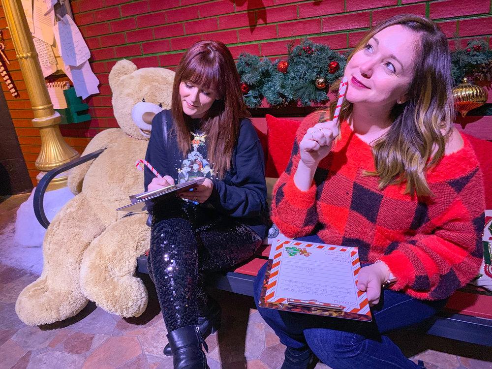 Fa La Land Pop Up Los Angeles - writing letters to Santa