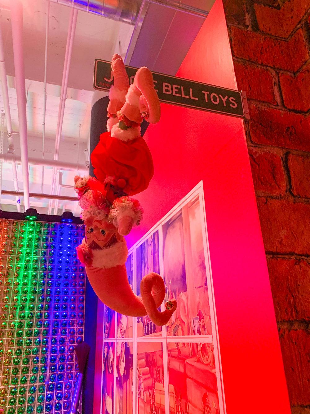 Fa la land - Christmas Pop-up in Downtown LA Naughty or Nice Room - Upside Downs Elf