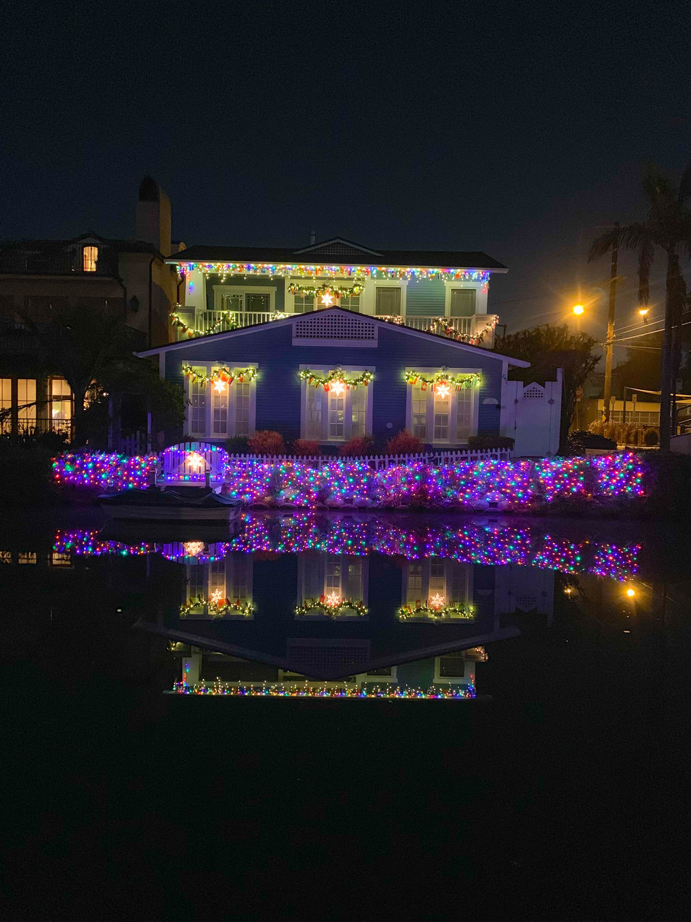Christmas Lights in Los Angeles Venice Canals