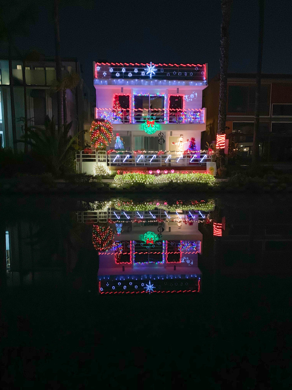 Christmas Lights in Los Angeles Venice Canals 3rd place winner