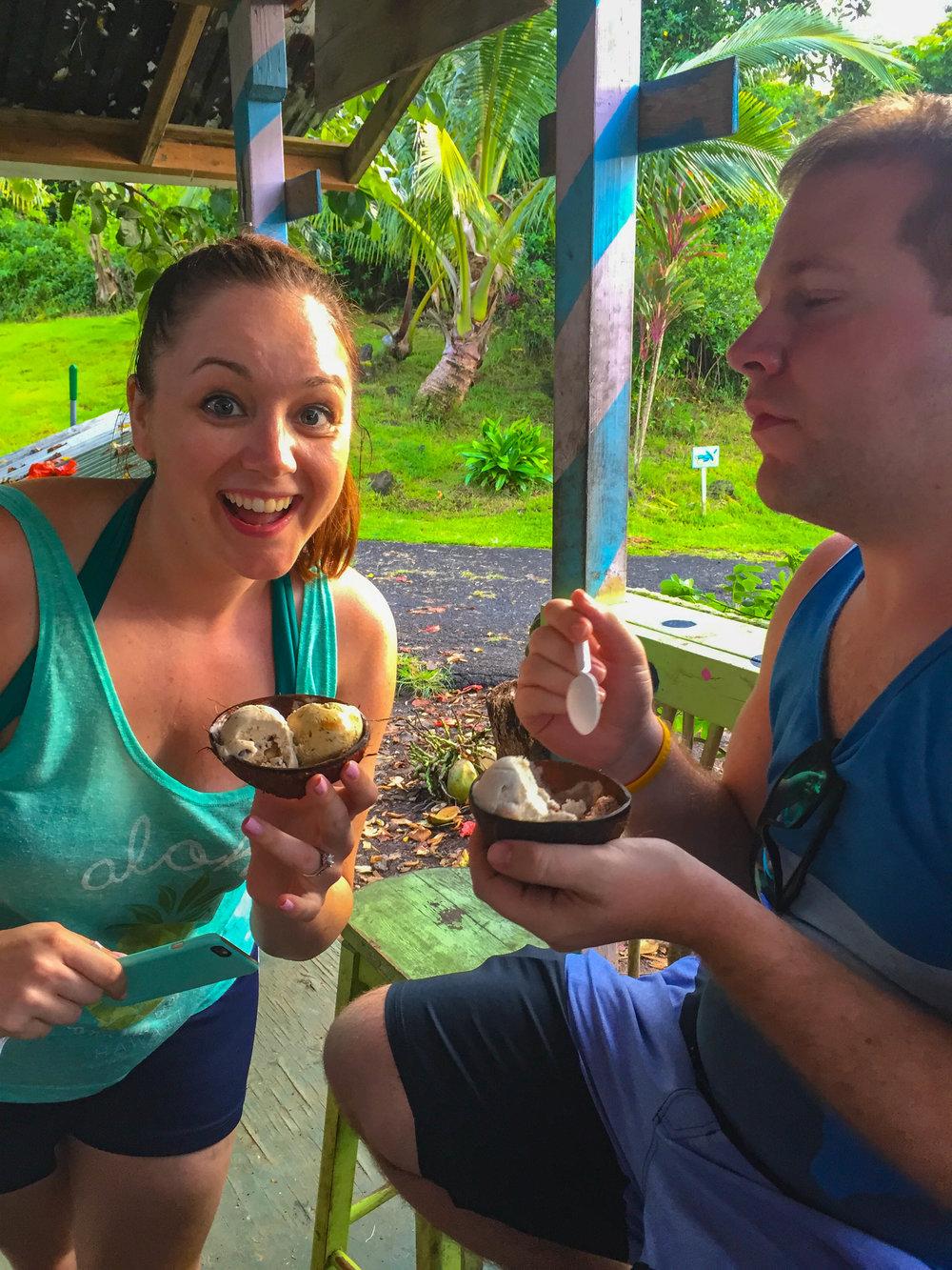 Coconut Glen's Ice Cream - Maui, Hawaii - Road to Hana Flavors
