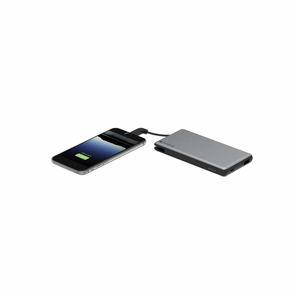 Mophie Powerstation Plus - External Battery with Built in Cables for Smartphones and Tablets (6,000mAh) - Space Greyon AMAZON.COM*Cheaper options available on AMAZON as well