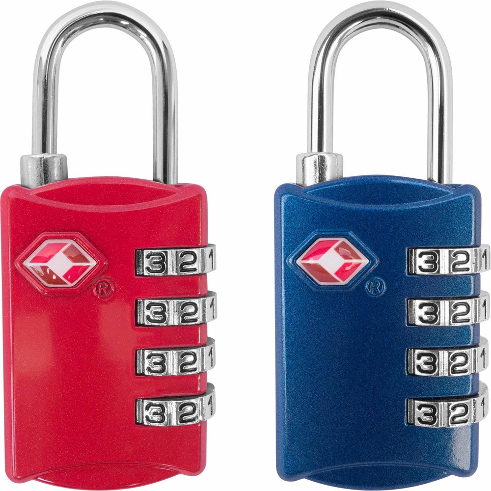 TSA Luggage Locks (2 Pack) - 4 Digit Combination Steel Padlocks - Approved Travel Lock for Suitcases & BaggageWe have at least 4 of these - available in other colors on AMAZON.