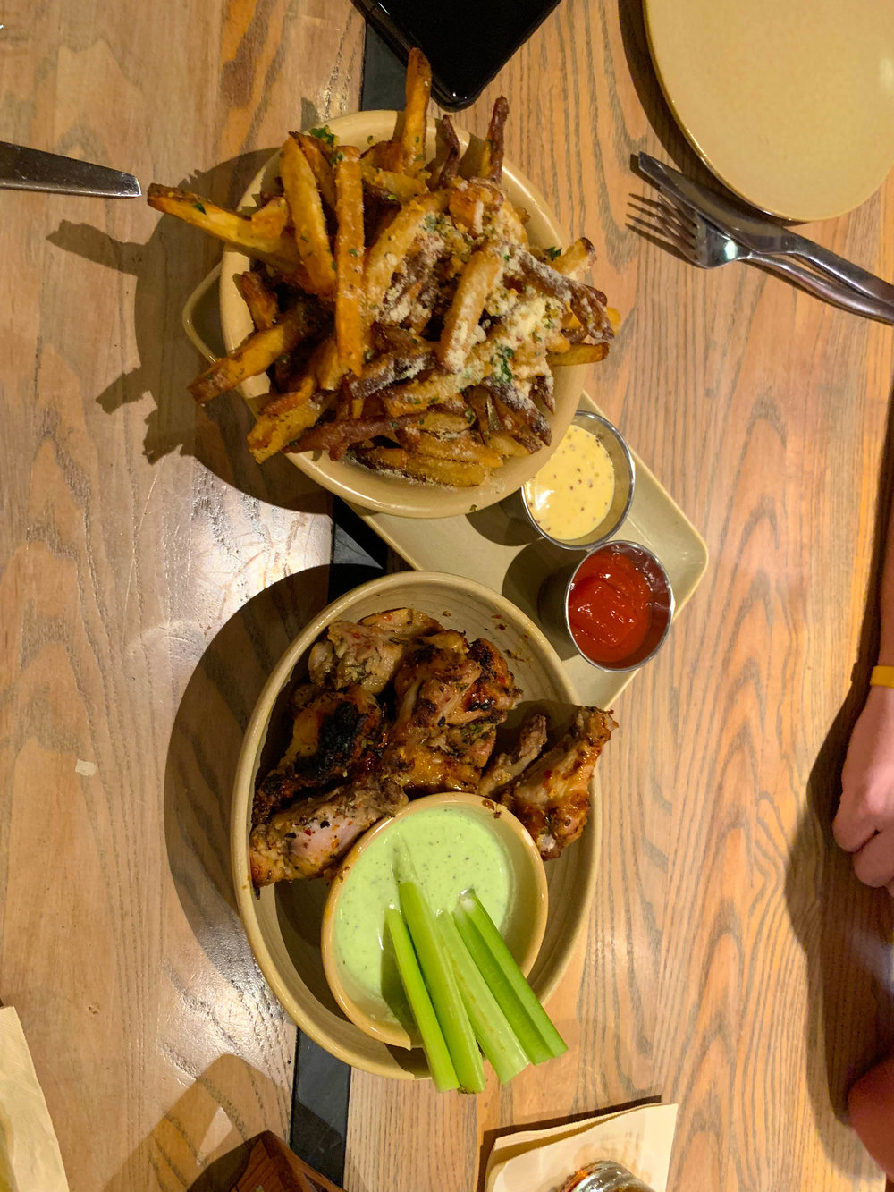 APPETIZERS AT MONKEYPOD KITCHEN IN MAUI - Chicken Wings and Fries