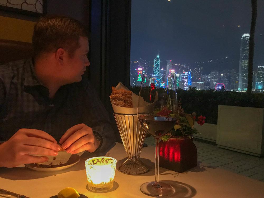 Steak house Restaurant Harbor views of Hong Kong
