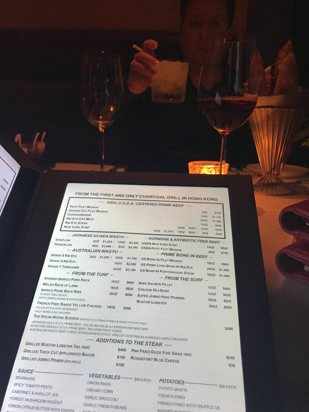 Hong-Kong-Intercontinental-Steak-House-Wine Bar-Grill-menu