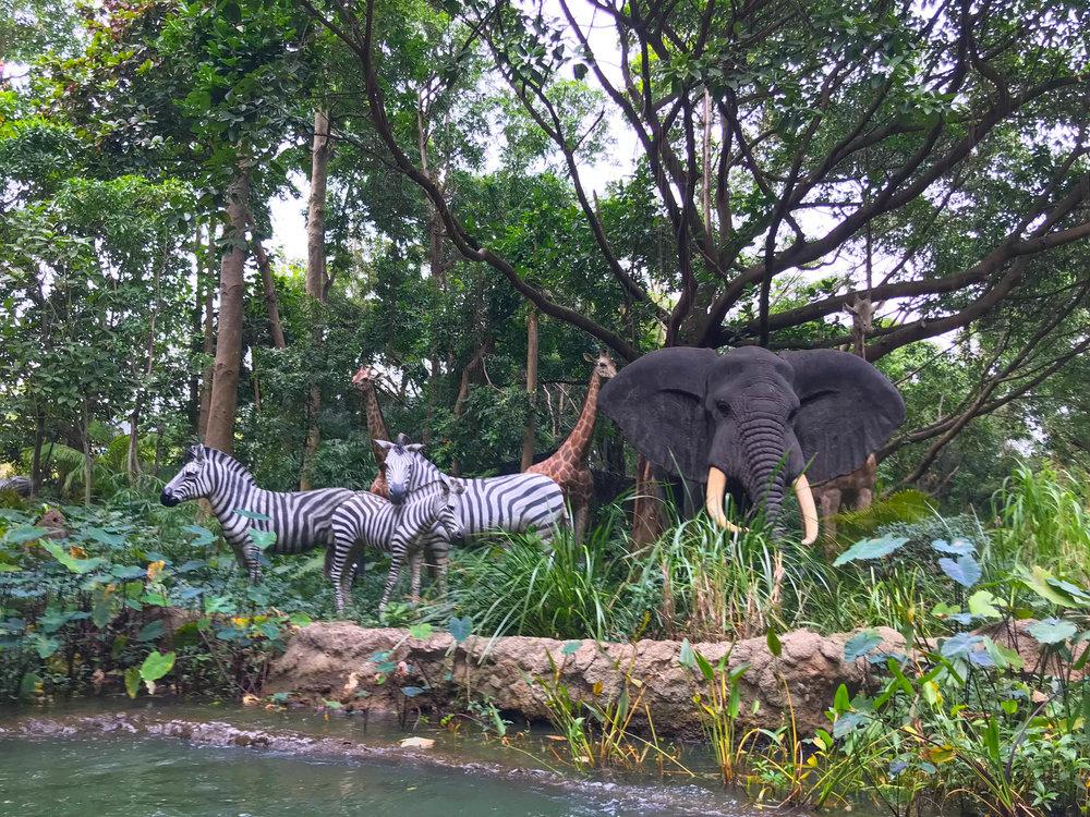 Hong Kong Disneyland - Adventureland Jungle Cruise Animals