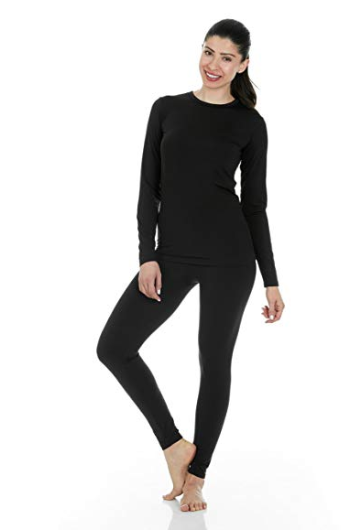 Women's Ultra Soft Thermal Underwear Long Johns Set with Fleece Lined - Available in so many colors (including PINK) and starting at $20 on AMAZON