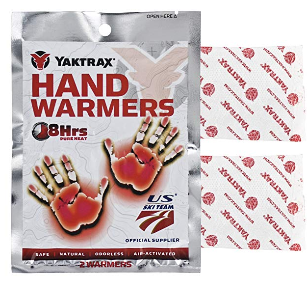Yaktrax 8-Hour Hand Warmers - Essential for keeping your hands warm! Get a pack of 10 on AMAZON for $7.99